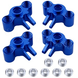 Image 2 - 4pcs Aluminum Axle Carriers Steering Knuckle Left & Right For Traxxas 1/16 Slash 4WD E Revo Summit VXL RC Car Hop Up Parts