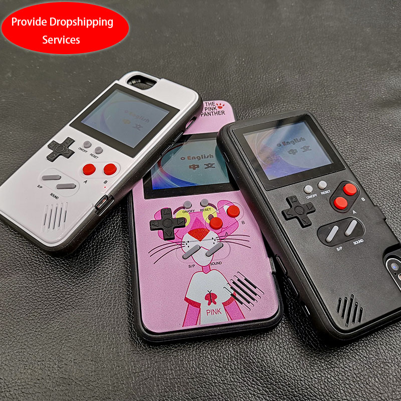 Pantalla a Color 36 clásico juego caja del teléfono para el iPhone 6 7 8 Plus juego de consola niño suave TPU funda de silicona para iPhone X XS X Max XR