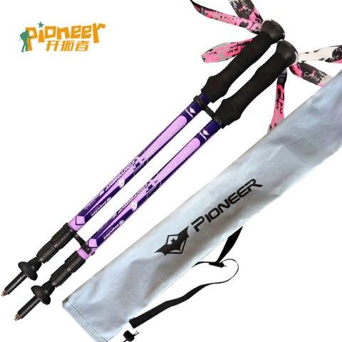 fibra de carbono ultra leve bengala caminhadas alpenstock ajustavel tiro escalada skiing camping trekking pole