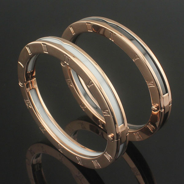 High-quality branded jewelry ceramic bracelets for women Roman numbered black and white ceramic bracelets rose Gold-gold стоимость