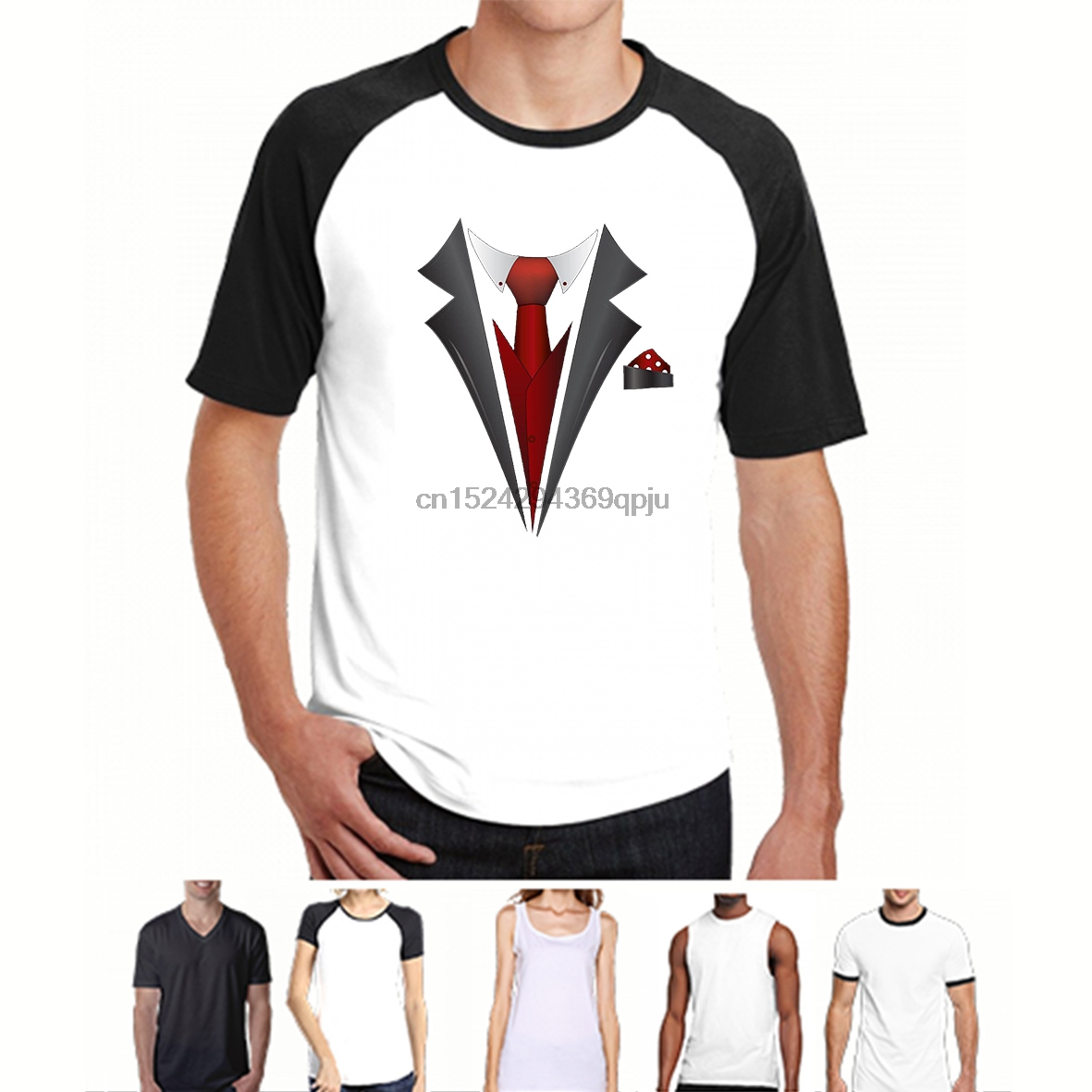 US $12 99 |Tuxedo Fancy Dress Stag Party Tux tee Mens Funny Wedding Prom  Beachelor Groom Gift Tops t shirt Shirts Black-in T-Shirts from Men's