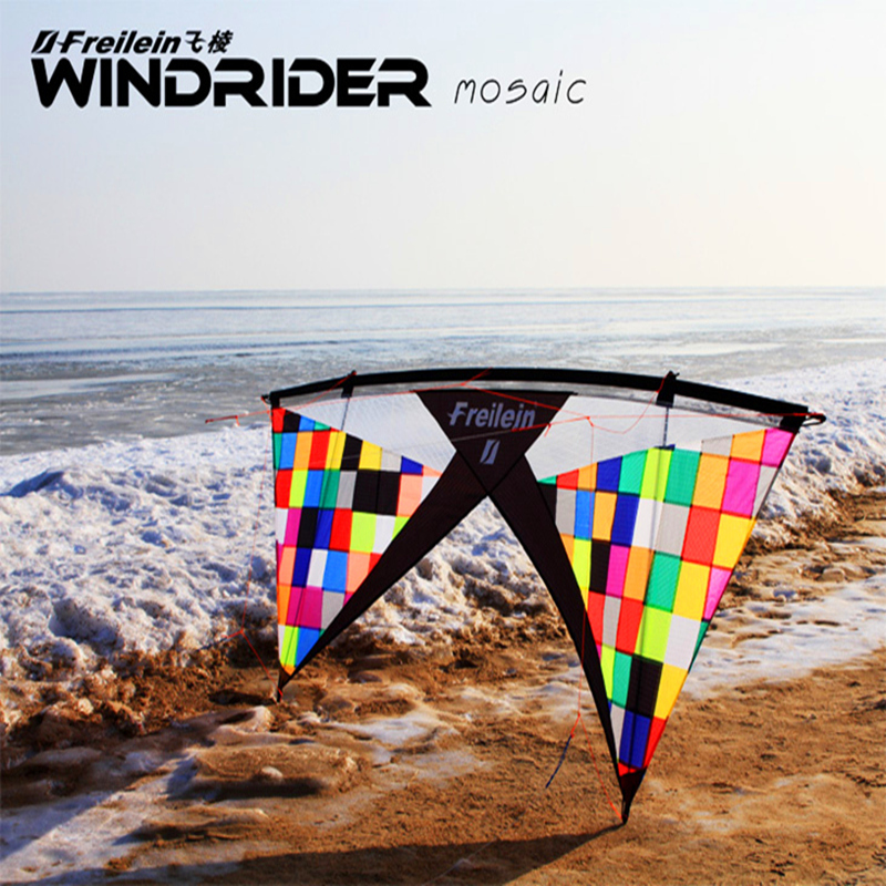 free shipping high quality mosaic quad line  stunt kite with handle line outdoor toys flying Freilein kite eagle kevlar hot sell freilein windrider quad line stunt kite set outdoor power kite flying handles kite line string for competition show