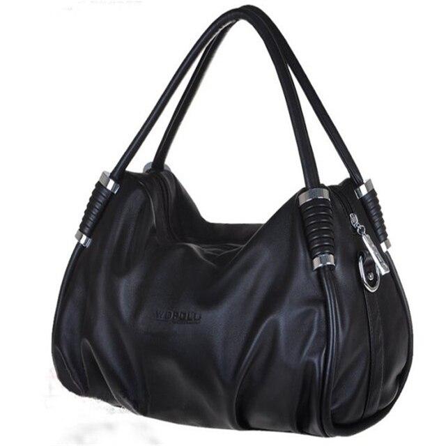 2017 hot sale women leather handbag solid color hobos women messenger bags shoulder bag for women