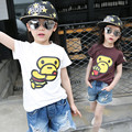 2016 Brand New Summer Baby Girl T-shirt Cotton Monkey Character Pattern Tees 2 Colors Available Children Tee Shirt