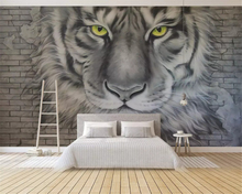 beibehang Custom fashion stereo wallpaper relief embossed tiger brick papel de parede wall papers home decor background mural