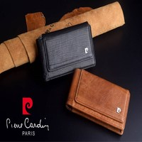 For Apple iPhone 5 SE 5C 5S Brand New Pierre Cardin Genuine Leather Hanging style Belt Bag Case Free Shipping