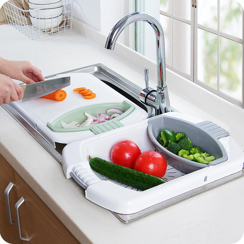 Function One Of The Five Building Blocks Of Kitchen: Kitchen Sink Cutting Board Multi Function Folding