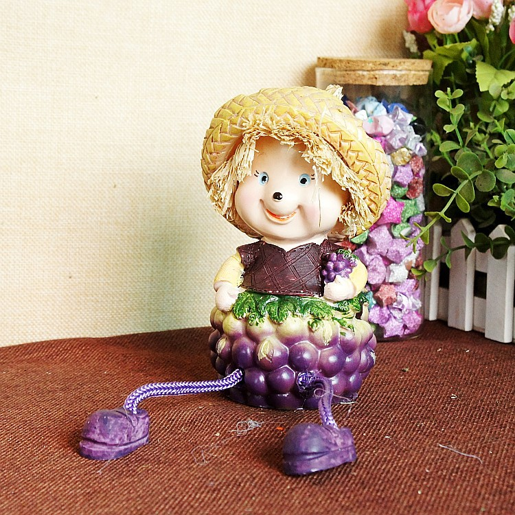 1 PC Pastoral Style Resin Cartoon Gift Children New Year Baby Toy Gift for Lover Friend Home Decoration Novelty Craft