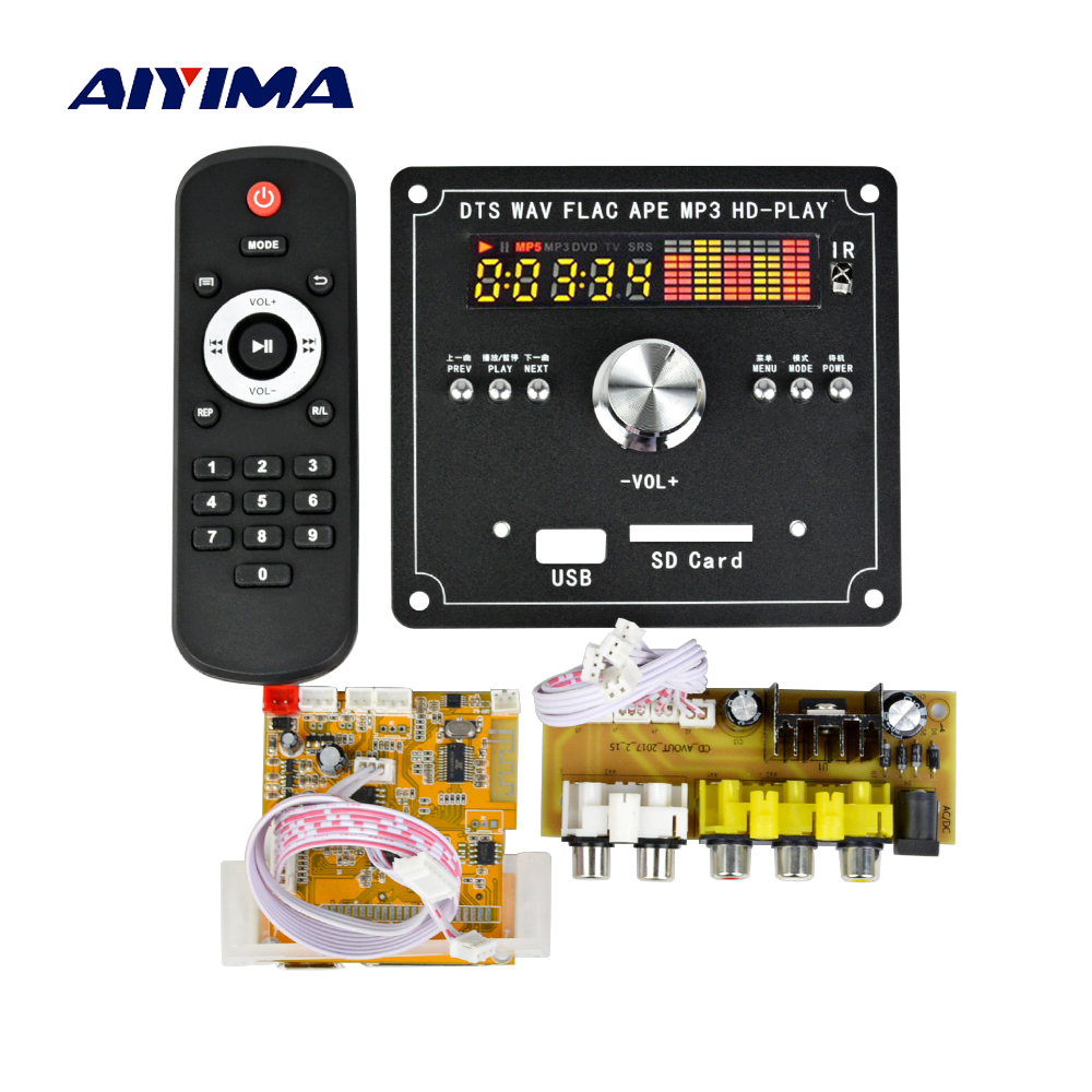 Aiyima DTS Lossless Decoding Bluetooth Receiver Board APE Player MP4/MP5 MP3 Decoder Board MTV HD Video Player aiyima lcd lossless bluetooth decoder dts flac ape ac3 wav mp3 decoder board decode