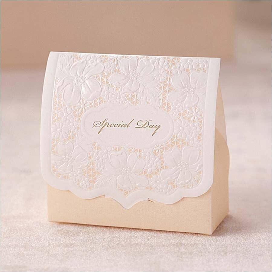 Wedding Favor Gift Boxes: Champagne Laser Cut Wedding Favor Boxes Wedding Candy Box