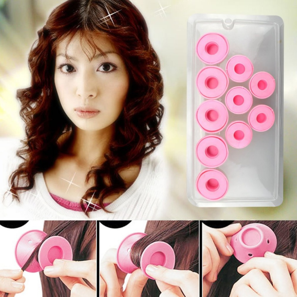 Set of 10 Silicone Hair Curlers 1