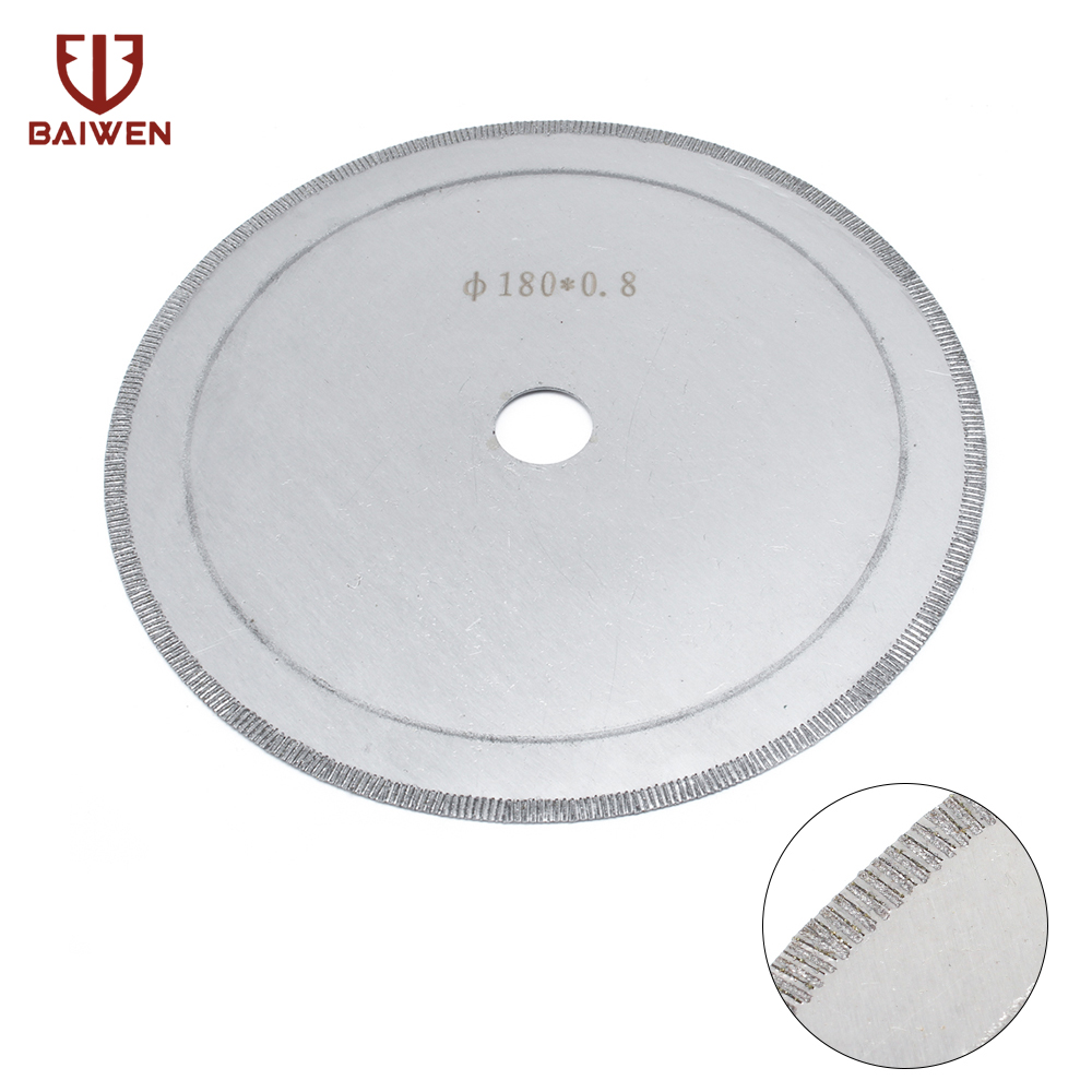 Diamond Lapidary Saws Trim Blade Super Thin Edge Wet 180MM Cutting Disc Jewellery Tools For Glass Stone 20MM Bore