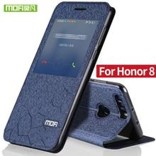 Huawei Honor 8 чехол Флип блеск кожи Mofi Honor 8 силиконовый чехол прозрачный ТПУ назад ультра тонкий металл Покрытие корпуса