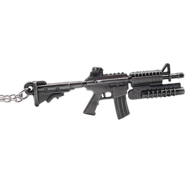 2019 moda AK-47 pistolet Model wisiorek naszyjniki Steampunk biżuteria akrylowa Arms AK 47 Alloy komunikat naszyjnik dla mężczyzn boże narodzenie