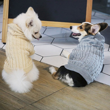Puppy Pet Sweater Dog Winter For Autumn Medium Teddy Coat Yorkie Bichon Clothes Knitted Hond Trui Costume 5MY1