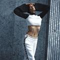 2017 Side Hollow Out Mujer Pantalones Flojos Ocasionales Cordón de Las Señoras de La Manera Plena Side Lace Up Mujer Pantalones Pantalones Rectos