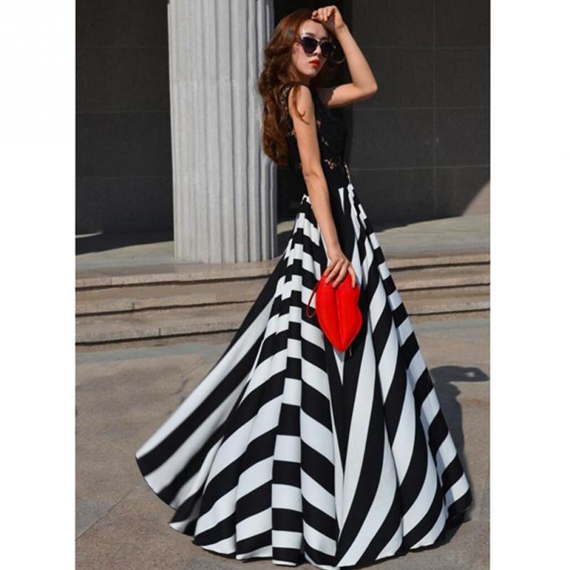 Online Get Cheap Sundress Black and White Long -Aliexpress.com ...