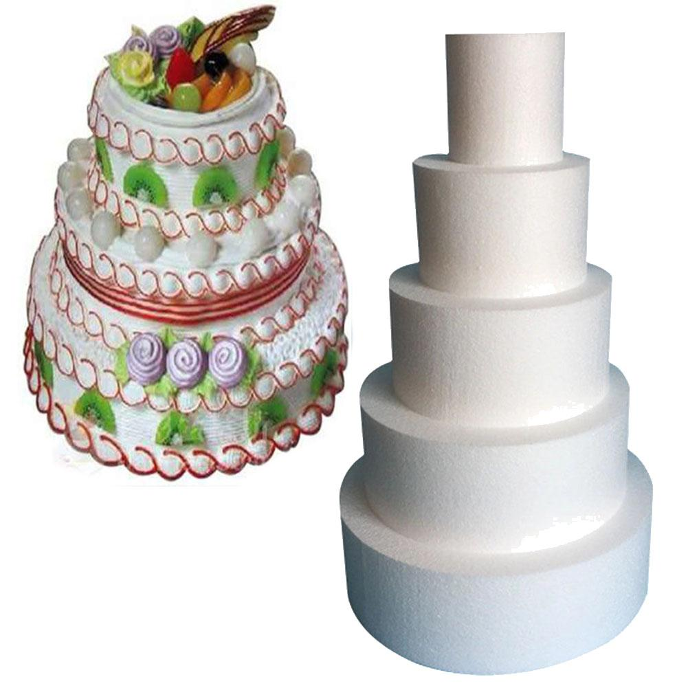 10/12/14/16inch Foam Round Cake Dummy Mold DIY Modelling Wedding Party Accessory