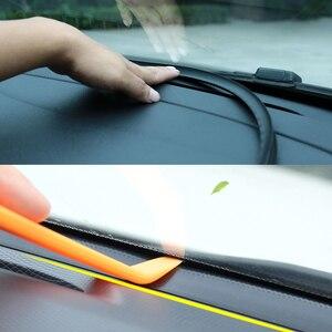 Image 5 - רכב לוח מחוונים איטום רצועת רכב גומי צליל חותם רצועת 1.6M אוטומטי שמשה קדמית קצוות פער איטום רצועות אביזרי פנים אוטומטי