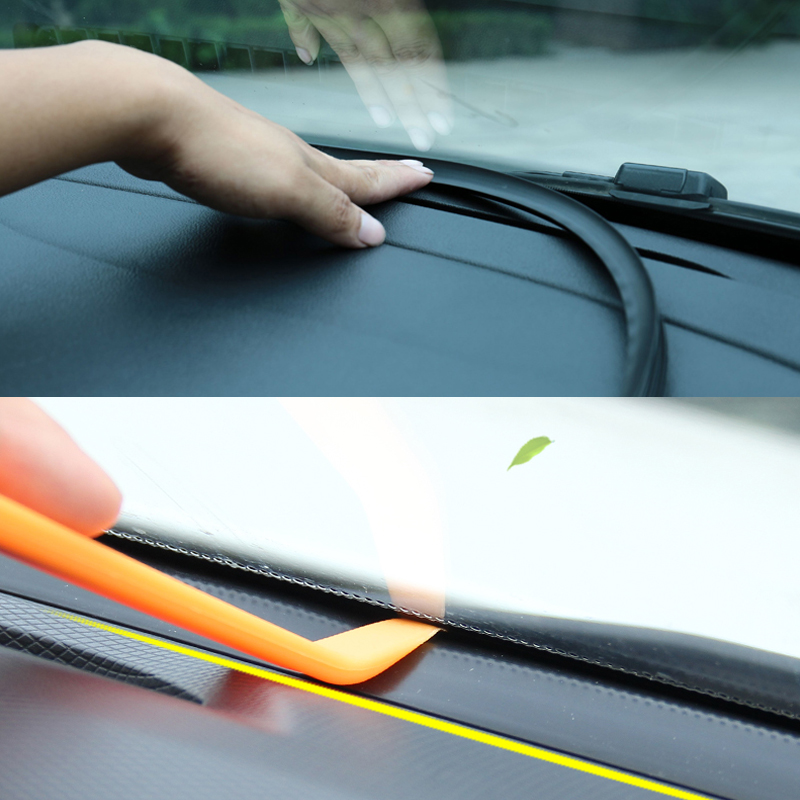 Image 5 - Car Dashboard Sealing Strip Car Rubber Sound Seal Strip 1.6M Auto Windshield Edges Gap Sealing Strips Auto Interior Accessories-in Car Stickers from Automobiles & Motorcycles