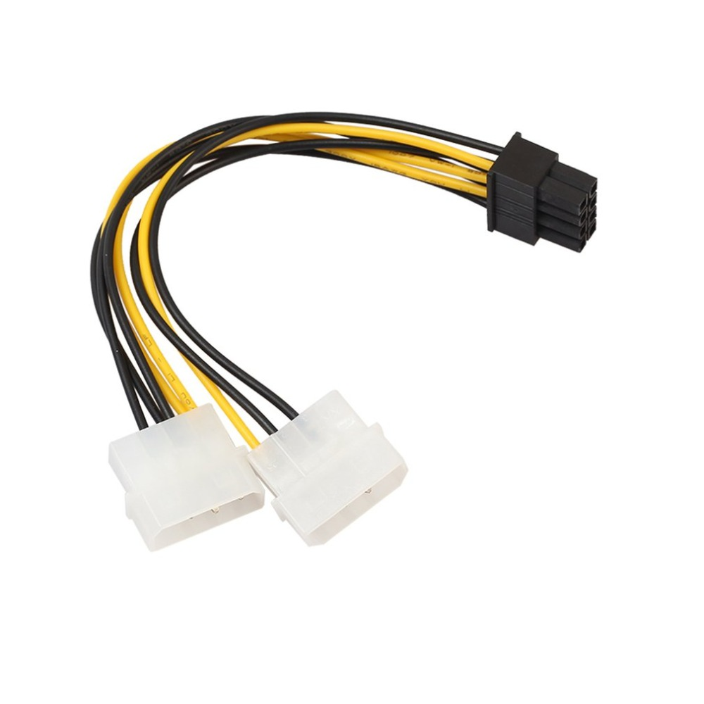 8 Pin6+2P To Dual 4P Graphics Card Power Line Connector Portable CPU Graphics Power Cable Power Supply Adapter