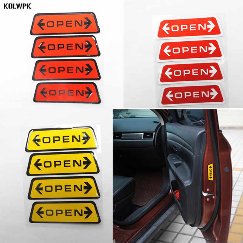 4 pcs styling Mobil Pintu Terbuka Peringatan stiker Reflektif Untuk Volvo S40 S60 S70 S80 S90 V40 V50 V60 V90 XC60 XC70 XC90