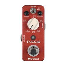 Mooer TresCab Digital Cab Simulated Guitar Effect Pedal 5 Cab Choices 2 Balanced Adjustment Microphone Pick Up Location Effects