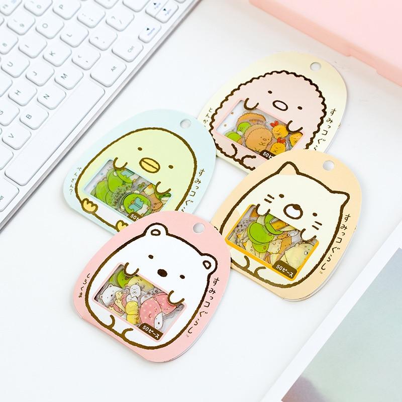 50Pcs/pack Kawaii Sumikko Gurashi Sticker Scrapbooking Creative Cartoon DIY Journal Decorative Adhesive Label Seal Stationery