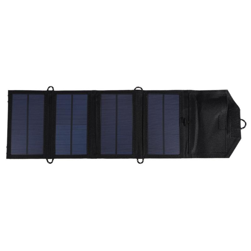 7W 5.5V Waterproof Solar Panel Board Foldable Monocrystalline Solar Panel Charger USB Mobile Power Bank for Smartphone MP3