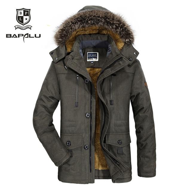 Big Promo  winter new jacket Men  Plus velvet thickening warm Windproof jacket men's casual hooded  jacket coat  size L-4XL 5XL 6XL  7176