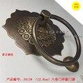 128 mm mobiliário antigo chinês, Acessórios de cobre porta o anel de tração controle batida do vintage clássico Hexagon batedor lidar