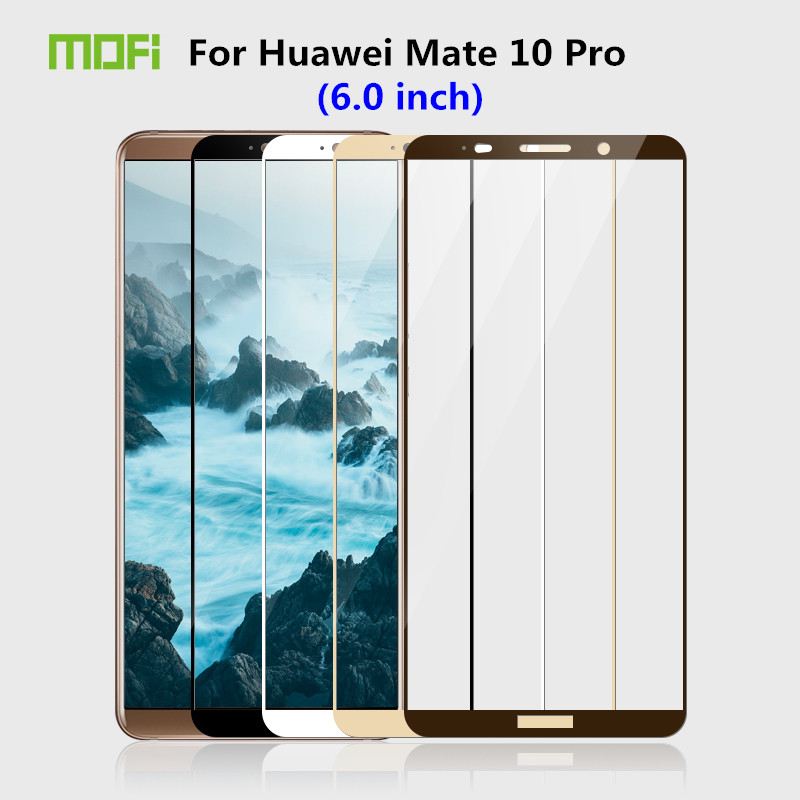 "Best buy ) }}Huawei Mate 10 Pro Glass Tempered 6.0"" MOFi Full Cover Protective"