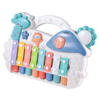 Infant Puzzle Eight Tone Piano Toy Hands Knock Piano Music Toy Colorful Plastic Kids Baby Music sense percussion educational gam