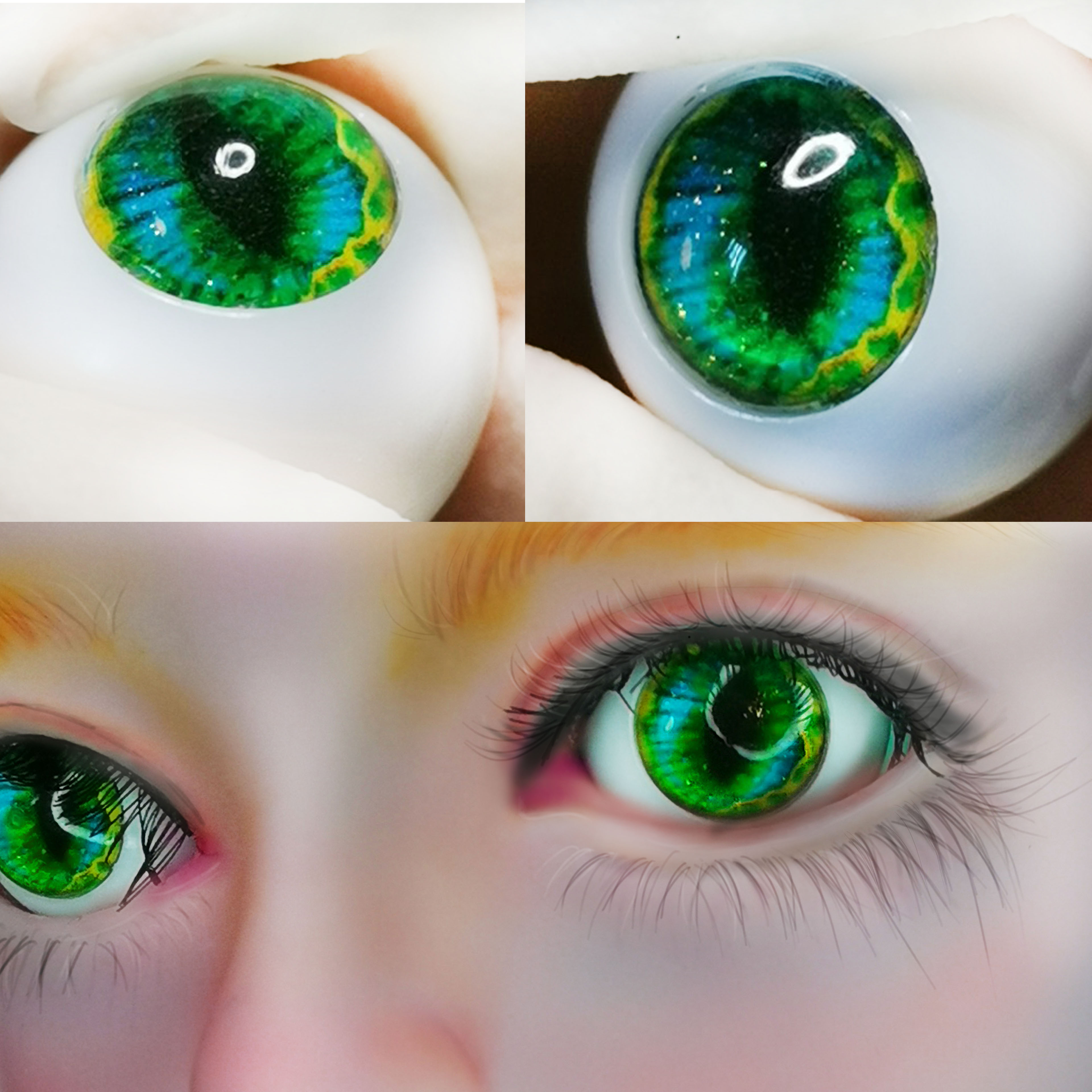 High-quality 20MM Grey Glass BJD Eyes for Reborn//NewBorn Luts AOD DOD DZ Doll