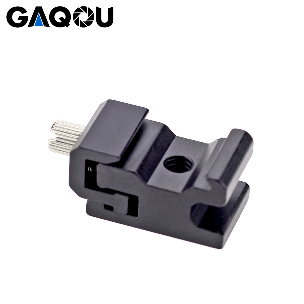 GAQOU Cold Shoe Hot Shoe CNC 1/4 Thread Screw Flash Bracket Mount Adapter Trigger For Carnon Nikon DSLR Camera Accessories