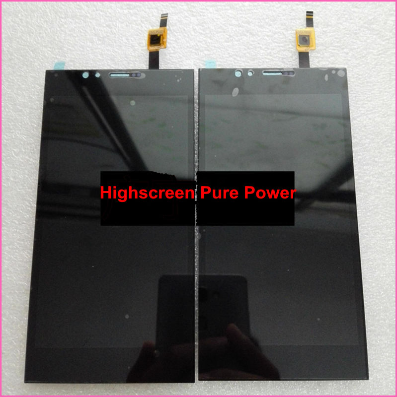 LCD Display +Digitizer Touch Screen Assembly For Highscreen Pure Power Black color In Stock!