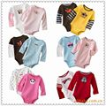 5 PSC/lot Wholesale Triangle Baby Rompers,Cotton Long Sleeve Infant Baby Boy Romper And Baby Girls Romper Suit For 0-18 Months