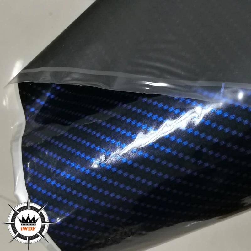 Hydrographic Film Metallic Blue Carbon