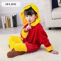 Pijama Infantil Onesie Hooded Kids Animal Cartoon Pajama Winnie Bear Children Boy Girl Unisex Pyjama
