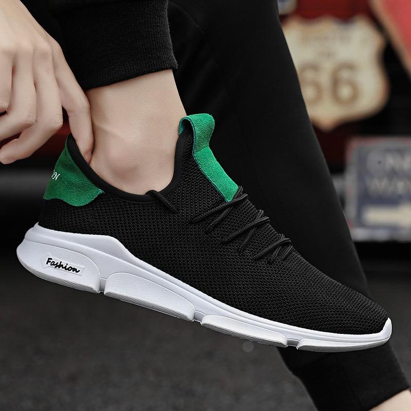 Air Un Negro De Marea Zapatos verde Ocasionales Hombre Para 18 Los Hombres Respirables Tejido Zapatillas Mesh Ligeros Estudiante blanco Pedal El qvxCS