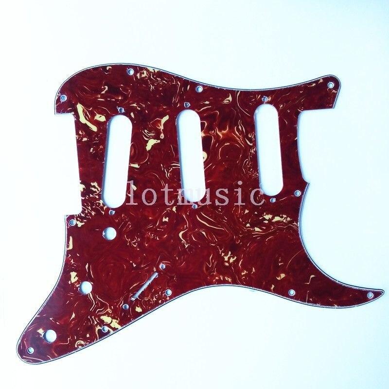 4 pièces guitare Rayures Plaque Pickguard, 3 Plis Tortue pour Fender Strat remplacement
