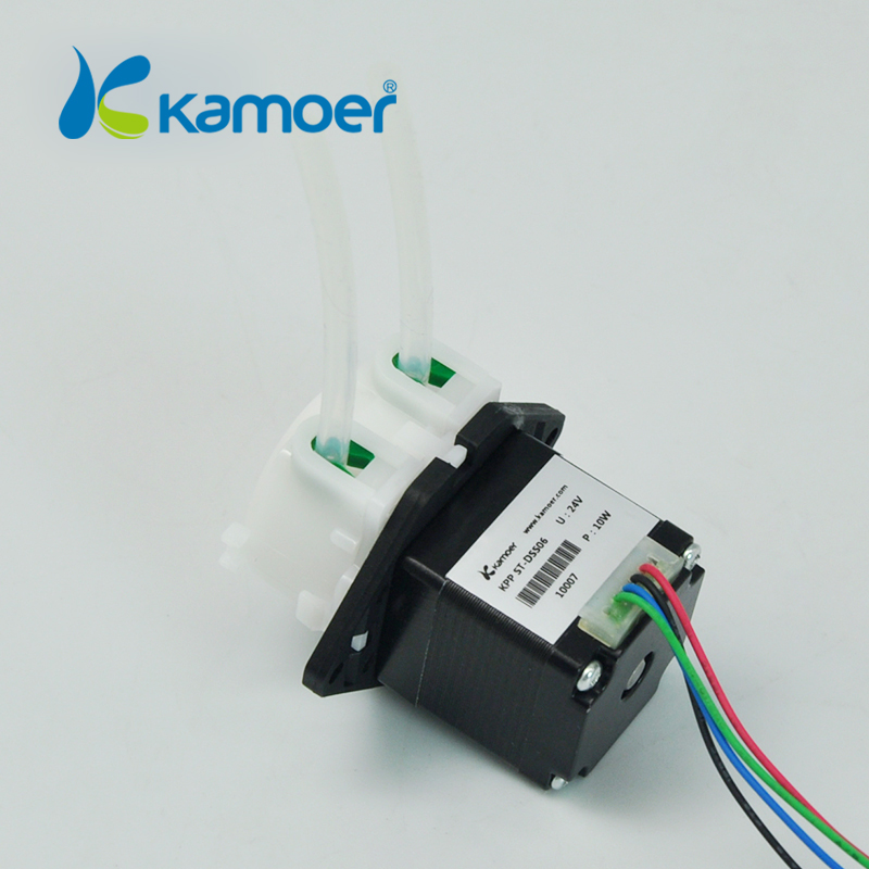 Micro electric peristaltic pump 12V/24V Mini dosing water pump with stepper motor(low flow and high percision-L) kamoer KPP-ST kamoer small peristaltic pump with stepper motor mini electric water pump 24v 12v liquid pump with high percision dosing pump
