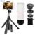 Teléfono kit de lentes lentes de zoom de 8x teleobjetivo trípode monopie obturador bluetooth 3in1 fisheye gran angular macro lentes para iphone samsung