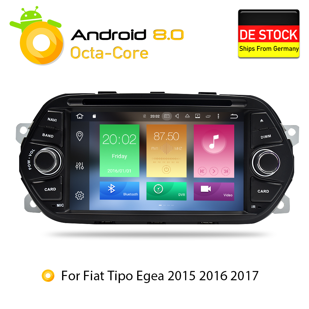 Android 7.1 8.0 2G 4G RAM Car DVD Stereo Headunit For Fiat Tipo Egea 2015 2016 2017 Auto radio GPS Navigation flash 16G 32G