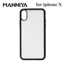 MANNIYA for iphone X XS Blank Sublimation TPU+PC rubber phone Case with Aluminum inserts and tape  10pcs/lot