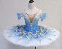 Блинная пачка классическая балерина балетный танцевальный костюм классический балетный tu костюмы Raymonda Medora синий Золушка синяя птица