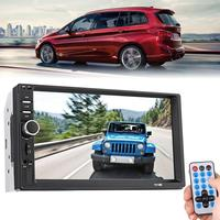 7 Inch 1080P TFT Touch Screen Remote Control Car 35dB MP5 Player Bluetooth 4_8 4 x 45 W FM Radio USB/TF AUX In