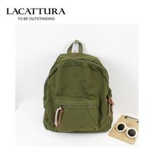 Lacattura design mode schwarze leinwand frauen rucksack lässig reisetasche adrette schultaschen mochila feminina kanken rucksack