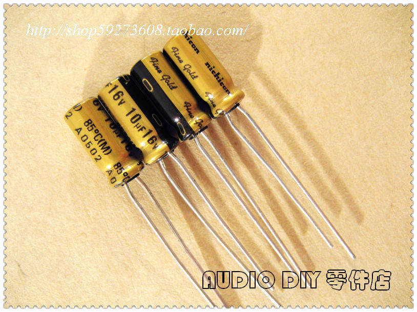 2018 hot sale 30PCS/50PCS Nichicon (fine gold) FG series <font><b>10uF</b></font>/<font><b>16V</b></font> audio <font><b>electrolytic</b></font> <font><b>capacitors</b></font> free shipping image