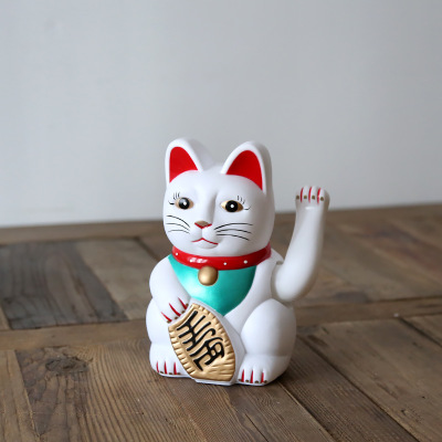 Japanese piggy bank married Lucky cat for fortune Rich cat battery Decoration shop opening creative gifts coloured ceramic